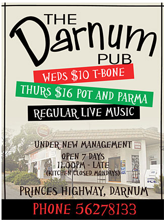 Darnum Pub Advertisement