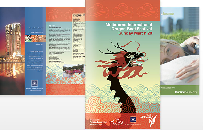 Dragon Boat Event oversize roll fold brochure