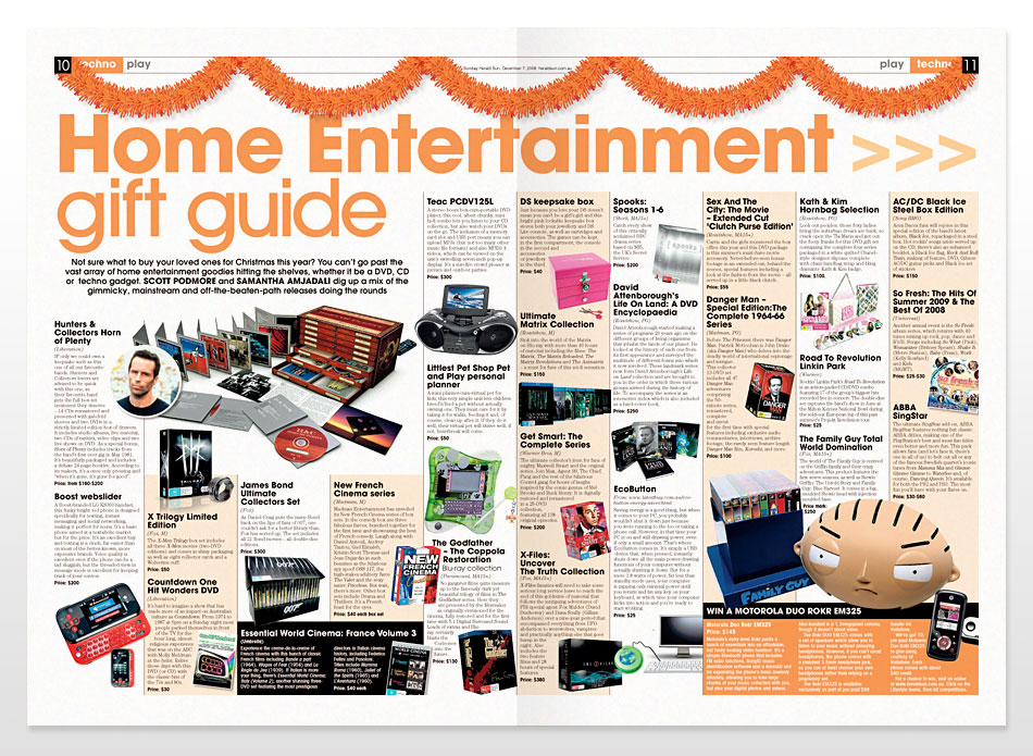 Entertainment Feature Magazine Design
