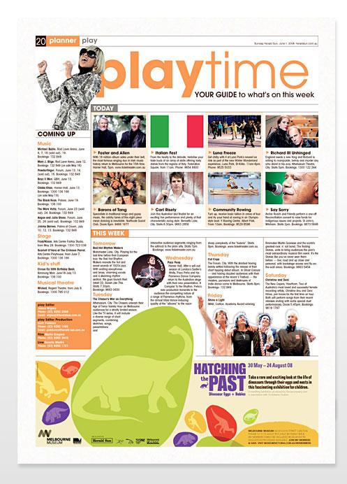 Entertainment Feature Magazine Design