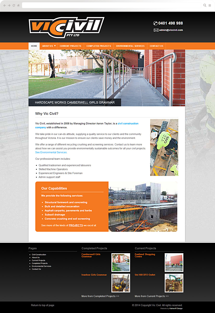 Civil-Contruction-website-design