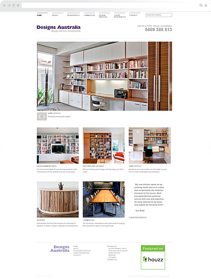 furniture-maker-website-development