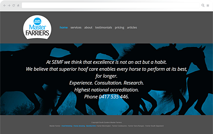 master-farriers-website-development
