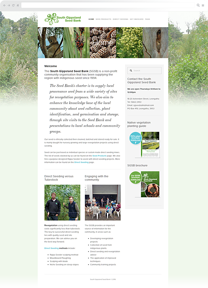 south-gippsland-seed-bank-website-design